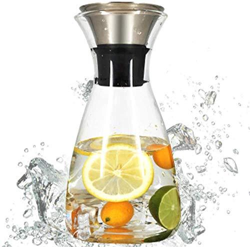 Water Jug, glas Pitcher Water Jug Household grote capaciteit waterkan glazen karaf Glazen met deksel, for thee, sap WKY