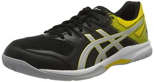 ASICS Mens Gel-Rocket 9 Volleyball Shoe, Black/Vibrant Yellow,44 EU