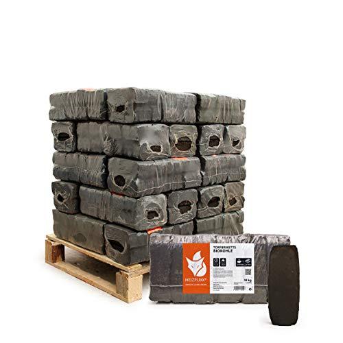 PALIGO Torfbriketts Ruf Bio Braunkohle Torf Gluthalter Dauerbrenner Kamin Ofen Brenn Holz Heiz Kohle Brikett 10kg x 30 Gebinde 300kg / 1 Palette Heizfuxx