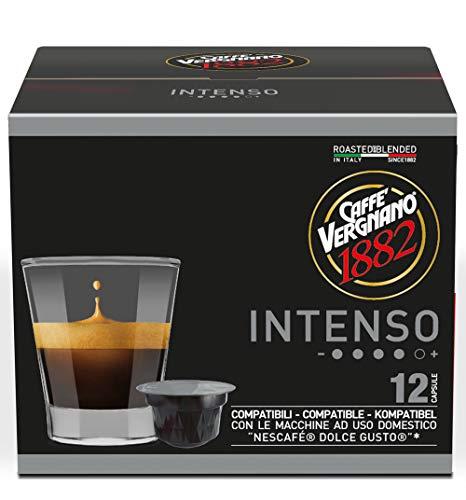 Caffè Vergnano 1882 Capsule Caffè Compatibili Nescafé Dolce Gusto, Intenso - 6 confezioni da 12 capsule (totale 72)