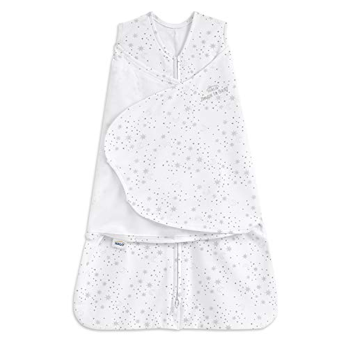 HALO Sleepsack Swaddle, 100% Cotton, Midnight Moons Grey, Preemie
