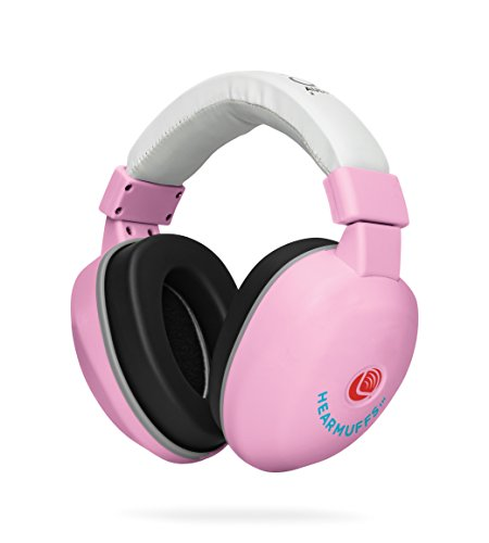 Lucid Audio HearMuffs Baby Hearing Protection (Over-The-Ear Sound Protection Ear Muffs Infant/Toddler/Child) (Pastel Pink)
