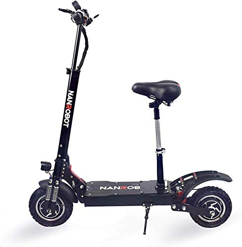 NANROBOT D4+High Speed Electric Scooter -2000W Motor Portable Folding, 40 MPH and 45 Mile Range of Riding 330lb Load