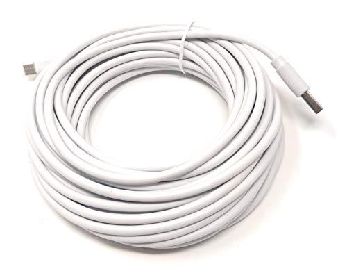 System-S 10 m Meter Micro USB Kabel Datenkabel Ladekabel in weiß