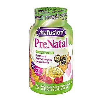 VitaFusion PreNatal Gummies 90 Count  Pack of 4