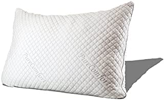Pure Comfort – Internet's Most Comfortable Pillow | Adjustable Loft | Neck & Back Pain Relief | CertiPUR-US Premium Memory Foam Fill | Hypoallergenic | 5Yr Warranty | 100 Night Trial – King