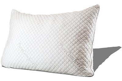 PureComfort - Internet's Most Comfortable & Luxurious Pillow | Cool Gel Infused | Adjustable Loft | Neck & Back Pain Relief | CertiPUR-US Fill | 5Yr Warranty | 100 Night Trial - Standard