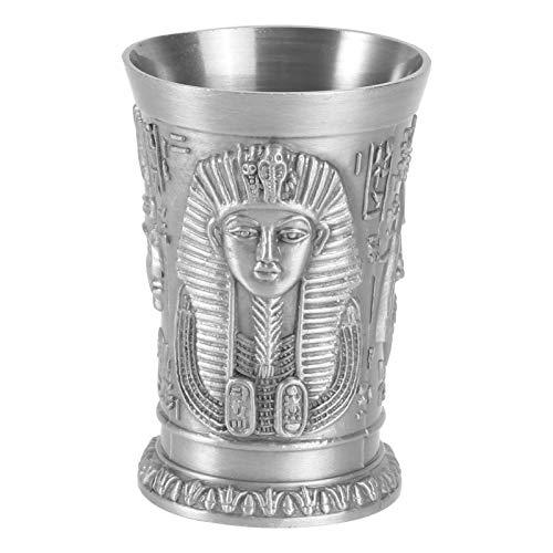 VALICLUD Vaso de Chupito de Metal Vintage Egipcio Vasos de Chupito de Vino Vaso de Chupito Personalizado para Cóctel de Vodka de Cóctel Hawaii Beach Party Supplies (Cleopatra)