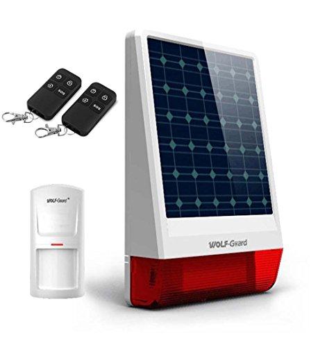 Lobo Guardia para el hogar sistema de alarma 120dB inalámbrico al aire libre solar sirena