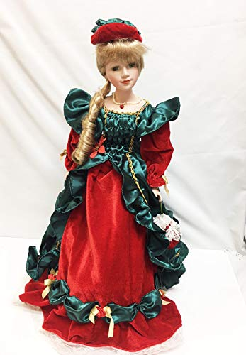 Show Stoppers Christmas Timeless Holiday 22' Porcelain Collectors Doll