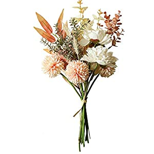 Artificial Flowers,Mixed Silk Flowers Hydrangea,Artificial Chrysanthemum,Spring Summer Indoor Decorations,Wedding Decoration Table Centerpieces (Yellow)
