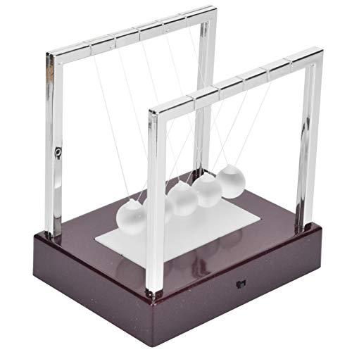 SALUTUYA con Bola oscilante Brillante de Newton Cradle Balance, Bola pendular, Bola oscilante, para decoración de la casa(Newton Ball Medium Fuchsia Base)