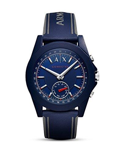 Armani Exchange Herren Hybrid Connected Smartwatch mit Silikon Armband AXT1002