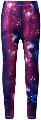 Hansber Kids Girls Boys Galaxy Print Pants Elastic Waistband Stretchy Gymnastics Yoga Leggings product image