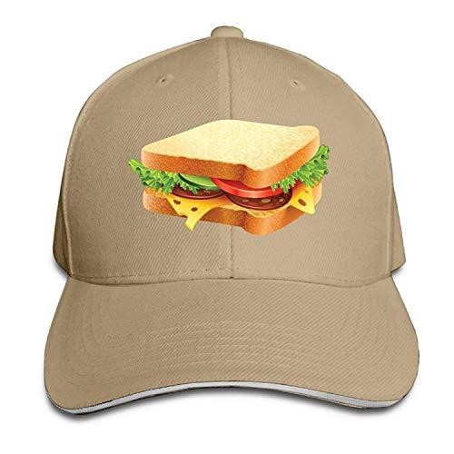 Clothing decoration Burger Sandwich Cotton Adjustable Peaked Baseball Cap Adult Sandwich Hat