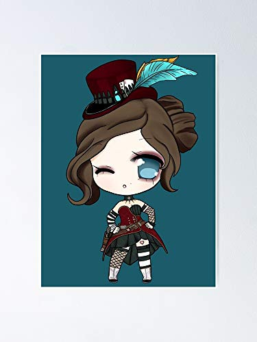 thepihut Mad Moxxi Chibi Poster 11.7x16.5 Inch Frame Board for Office Decor, Best Gift Dad Mom Grandmother and Your Friends