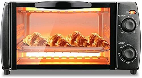 Capacità da 10 litri, mini, controllo della temperatura accurato, può essere cronometrato, con grill pan, nero
