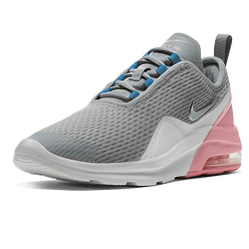 Nike Unisex Kinder Air Max Motion 2 (GS) Sneaker, Light Smoke Grey/Metallic Silver-Pink-Laser Blue, 38 EU