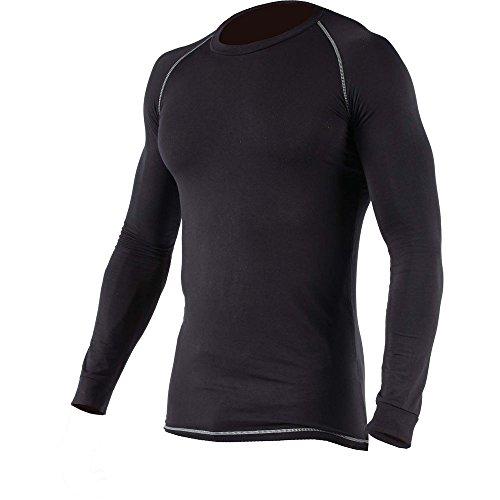 Dickies Baselayer Herren Thermo-Unterhemd, langärmlig, Schwarz mit Kontrastnähten (2XL) (Schwarz)