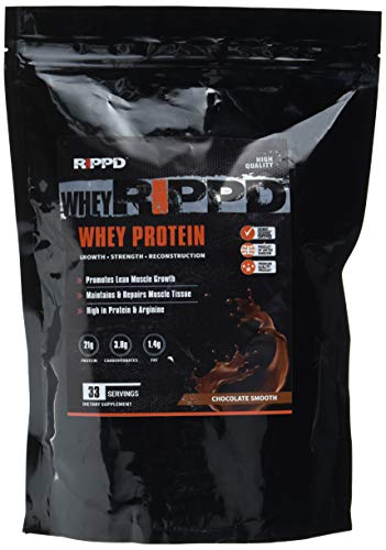 GETRIPPD Nutrition Whey Rippd 33 Servings Impact Whey Protein Blend Shake Powder Optimum Lean Muscle Diet Weight Loss Shakes, 1 kg