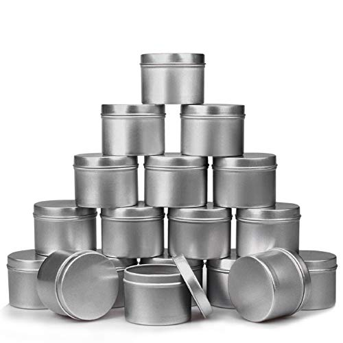 DINGPAI Candle Tin 18 Piece, 4 oz, Candle Containers for DIY Candle Making
