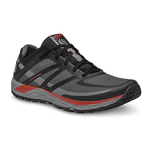 Topo Athletic Runventure 2 Chaussures de course - Hommes Gris/Rouge 8