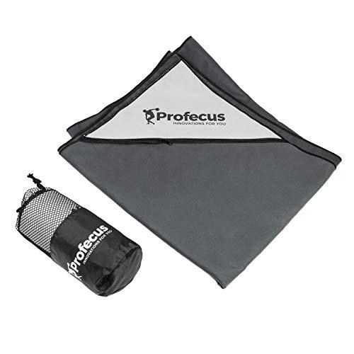 Profecus - Toalla de microfibra con bolsillo (130 x 80 cm), ligera, compacta y de secado rápido