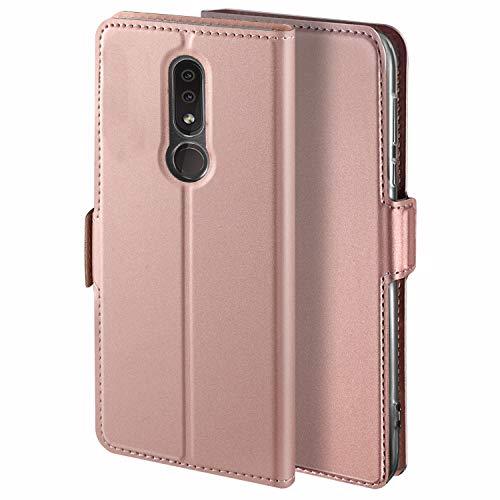 HoneyHülle für Handyhülle Nokia 4.2 Hülle Premium Leder Flip Schutzhülle für Nokia 4.2 Tasche, Rose Gold
