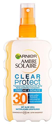 Garnier Sonnenschutz-Spray, LSF 30, Clear Protect Bräune & Schutz, transparent, Ambre Solaire, 1er Pack(1 x 200 ml)