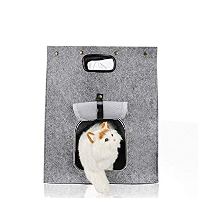 DALEI Portable Cat Litter Box, Handbag Cat Litter Portable Cat Dag Litter Box for Travel Tray Pan Box with Lid Box Large Pet Handbag Carrier