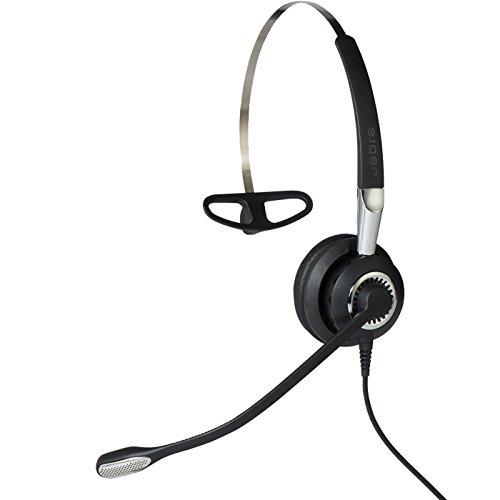 Jabra Biz 2400 II QD Mono Ultra-Noise-Cancelling-Headset für Festnetztelefone, 3-in-1-Design mit Überkopfbügel/Nackenbügel/Ohrhaken zur Wahl
