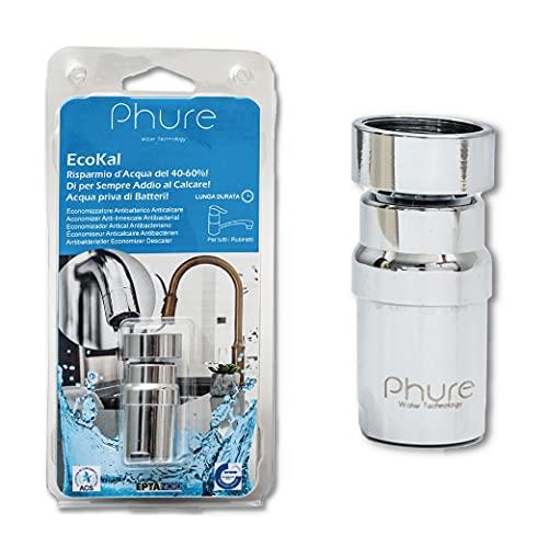 Phure - Ecokal - Economizador magnético y antibacteriano, con espiral de plata viva, ahorro de agua del 40/60%, para todos los grifos de casa, cocina, baño F22/M24 (con articulación)