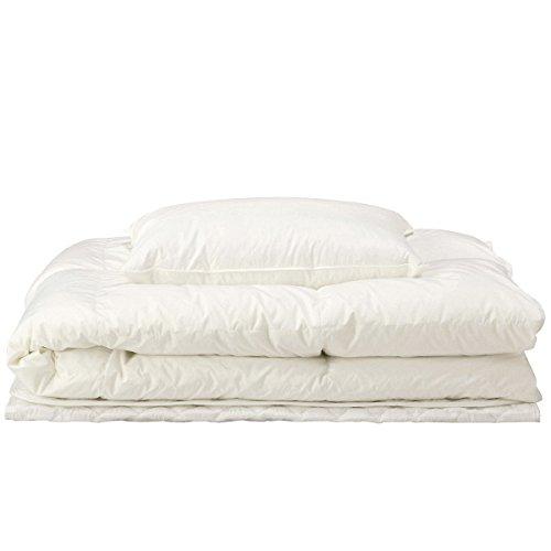 【無印良品】ホワイトダウンキルト 枕とベッドパッドセット 日本製