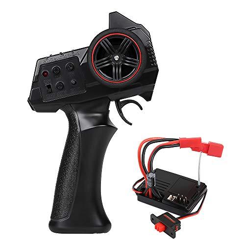 INJORA RC Radiocomando 2.4GHz 3 Canale RC Trasmettitore Radiocomando Ricevitore RC Controller con Receiver per 1/14 1/16 1/18 1/24 RC Car Crawler SCX24 MN WPL Model