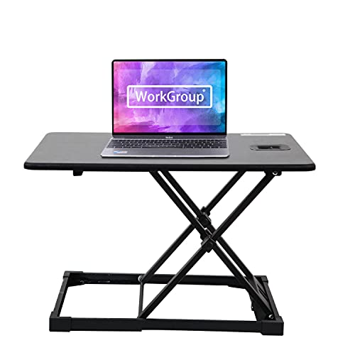 WorkGroup Height Adjustable Desk Converter 25.6Inch | Sit Stand Desk Riser Computer Workstation Home&Office Tabletop for Both Monitor and Laptop