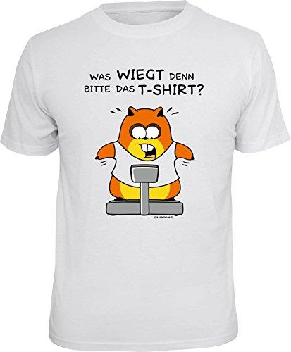 RAHMENLOS Original T-Shirt für den Figurbewussten: was wiegt denn Bitte das T-Shirt?! Größe XL, Nr.6164
