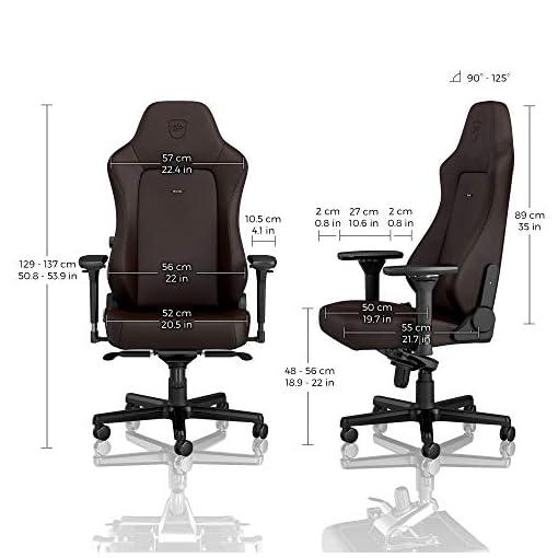 noblechairs Hero Sedia da Gaming - Sedia da ufficio - Sedia da scrivania - Ecopelle PU - 150 kg - 135° Reclinabile… 3