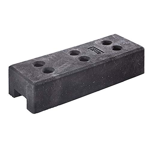 QUIPO Zaunfuß | Bauzaunfuß | Zaun | Gitterzaun aus Kunststoff für Mobilzaun, LxBxH 690 x 250 x 140 mm