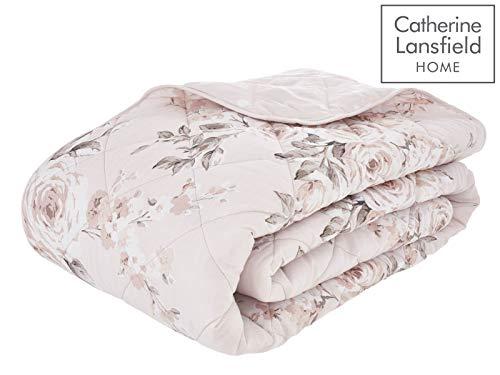 Catherine Lansfield Canterbury Tagesdecke, pflegeleicht, Blush, Bedspread - 220x230cm