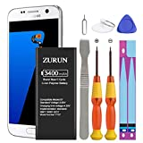 Galaxy S7 Battery ZURUN 3400mAh Li-Polymer Battery EB-BG930ABE Replacement for Samsung Galaxy S7 G930 G930V G930A G930T G930P with Screwdriver Tool Kit | S7 Battery Replacement Kit [2 Year Warranty]
