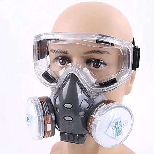 LLDKA Gasmaske,Passform weich Elastische Schnalle für Chemie-Arbeiten gegen Gase, Dämpfe