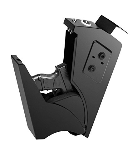 Feelway Gun Safe Storage Safe for Handgun Pistol Quick Access Under-Desk Electric Keypad Lock Home Office Security