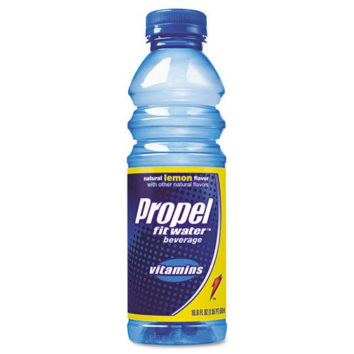 Propel Fitness Water Products - Propel Fitness Water - Flavored Water, Lemon, Plastic Bottle, 500 mL, 24/Carton - Sold As 1 Carton - Thirst-quenching. - Low-calorie, vitamin-charged. - Convenient plastic bottles.