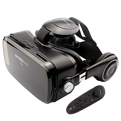 BOBOVR Z4 Virtual Reality Headset, 3D Glasses 120°FOV Adjustable Focal Length Stereo Headphone VR for 4.0-6.0 inch Smartphone