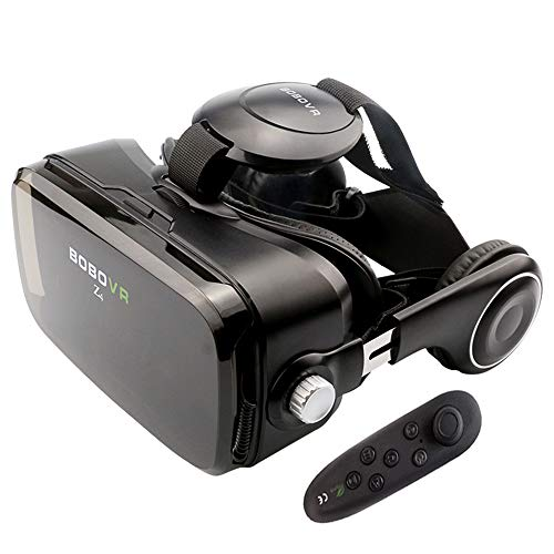 BOBOVR Z4 VR Headset for Phone, Virtual Reality Headset with Remote Controller 3D Glasses for VR Games & Movies On iPhone and Android Smartphnes 4.0-6.5 inch
