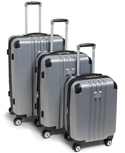 of travelambo luggages Calvin Klein Adventure 3 Piece Set, Silver