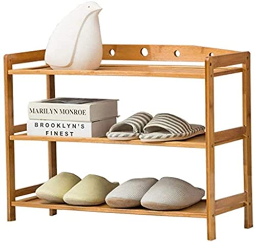 ZAIHW Zapatero de 3 Niveles de bambú, fácil de Montar, Ligero, Compacto, ahorrador de Espacio, Elegante y Moderno, Taburete para Cambiar Zapatos (Color: Pxxddq2429r, tamaño: 2)