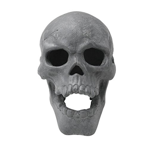 Stanbroil 9-Inch Imitated Human Skull Gas Log for Indoor or Outdoor Fireplaces,...