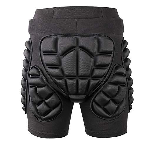 Pantalon de moto d'hiver pour sports de plein air, ski, protection des hanches, protection des hanches, pantalon de ski, snowboard, patinage (couleur : noir, taille : M)