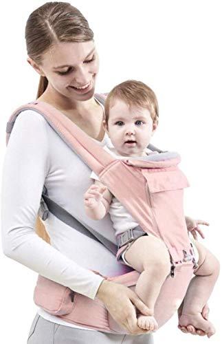 Porte-bébé HZYD Porteurs de bébé Modèles d'été modèles Respirant ing Artefact bébé Avant Hug Multifonctionnel Hug bébé Taille Tabouret (Couleur: Rose) (Couleur: Rose), Couleur: Rose